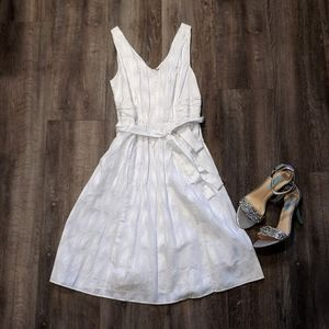 The Limited White Dress with embroidery design
